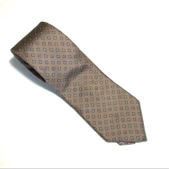 Dior Other - Christian Dior Brown tie -Geometric Pattern 58Lx3W